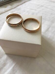 Two 10K Gold men's rings