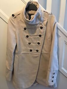 Manteau de feutre beige-rose small/medium