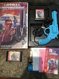 Sega Genesis Lethal Enforcers In Box with Gun