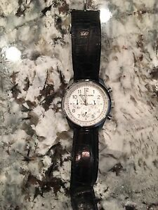 Michael Kors Black band and White face watch