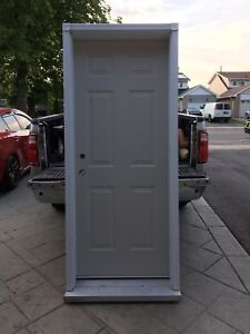 Entrance Door With Frame And Moulding, NEW!