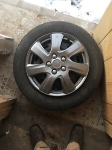 """15"""" steel rims with hubcaps"""