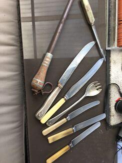 Vintage kitchen knives