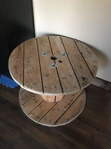 Large wooden spoon table