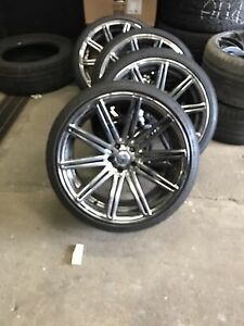 20 inch staggered wheel and tire 5x112