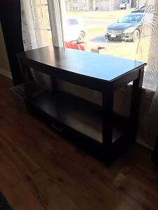TV table and two matching end tables.