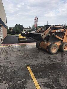 Driveway sealing, paving, asphalt repair, hot crack filling.
