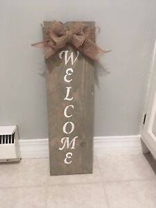 Customized welcome signs!