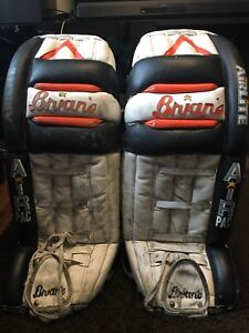 """Brian's air pac goalie pads used in AHL 31"""" airlite OBO"""