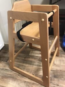 6 Solid Wood High Chairs