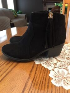 Girls Black Suede Ankle Boots for Sale