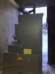 Hot water propane heater