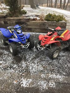 2 kids atv and boat for trade