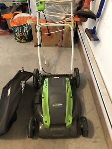Green Works electrical lawn mower