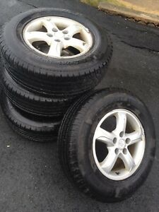 235/70 R16 tires on Hyundai Alloy rims