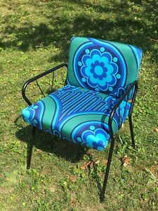 Peter Hall Volution vintage fabric midcentury chair