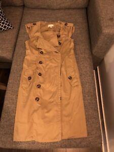 Anthropologie trench coat dress