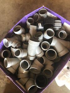 PVC pieces and bonder