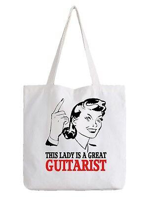 Guitarist Ladies Tote Bag Shopper Best Gift Band Rock Metal Electric Guitar