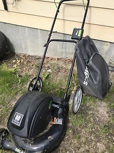 Solaris battery operated lawn mower.