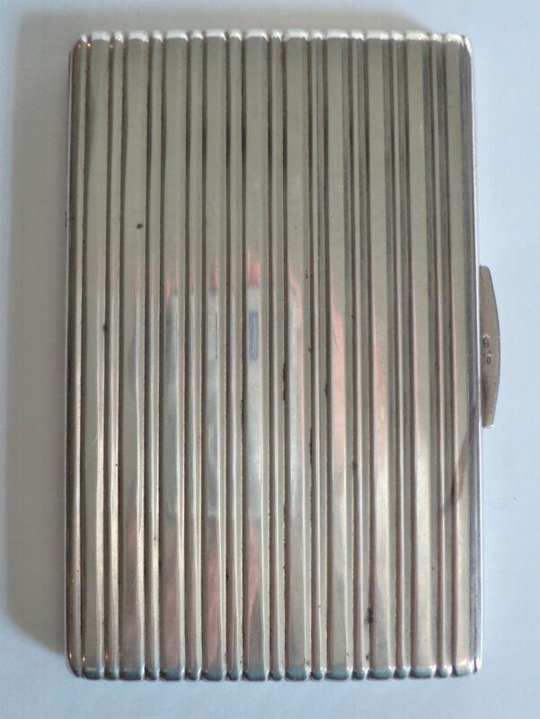 Art Deco Sterling Silver Cigarette Case, 195 grams