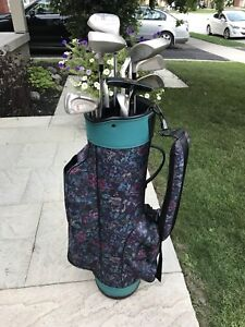 Woman's Dunlop Golf Clubs with Bag