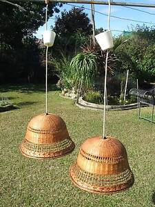 CANE LAMP SHADES (2) Merrylands Parramatta Area Preview