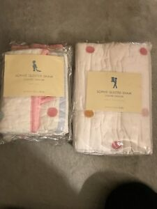 Quilted pillow shams pottery barn brand new