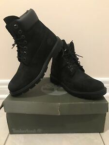 URGENT ~ $130 ~ Timberland Men's Size 8 Black 6-Inch Boots