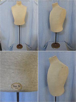Rare Antique Vintage 1910s-1930s Size 34 Shirt Male Torso Display Dress Form