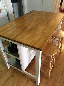 Kitchen island with storage shelves Corrimal Wollongong Area Preview