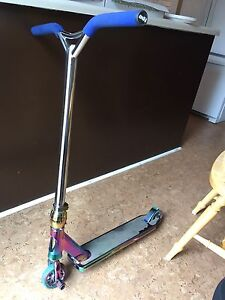 Custom Chrome and Oilslick Scooter