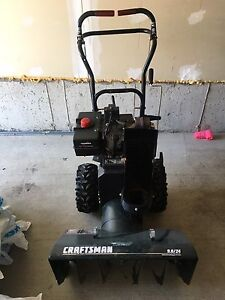 "Craftsman 9HP snowblower 24"" gas/electric"
