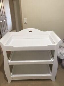 White Royal Boori change table