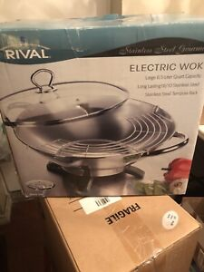 Rival stainless steel gourmet electric walk (never used)