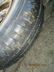 tyre on rim 7.50 x 16 dunlop roadtrak major rusty $25 suit farm Babinda Cairns Surrounds Preview