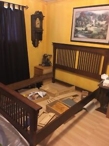 Mission style bed frame