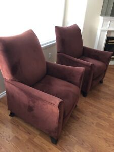 Reclining accent chair $100