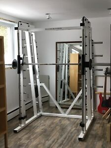 Machine squat, bench press smith machine