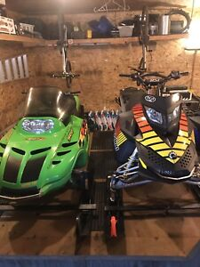 Snowmobiles and Trailer Combo