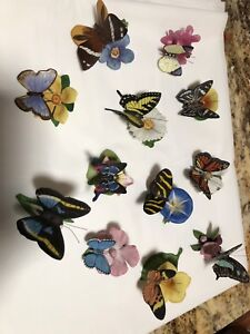 Franklin mint.     butterfly collection