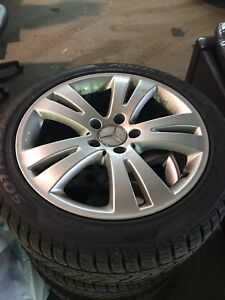Mercedes perelli sottozero3 winter tires and rims, not used