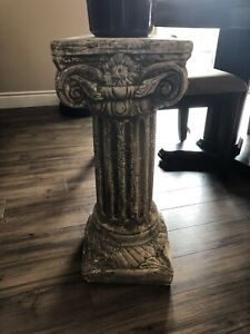 Pillar. Side table or plant stand. - sold pending pick up