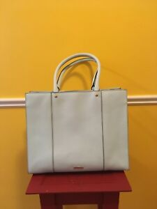 EUC Rebecca Minkoff Large Leather Tote Bag Purse Mint Green