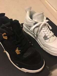 Pure money and loyalty air Jordan 4s size 7y