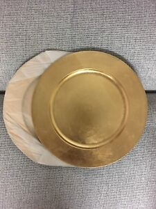 Gold Charger plates, brand new!