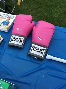 Practically new everlast punching gloves