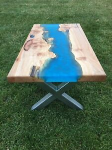 Custom live edge river tables