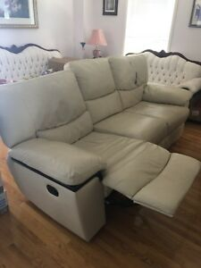 Beige reclining couch / sofa !