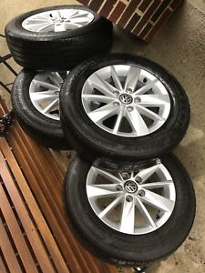 "15"" Volkswagen Wheels & Tires (Like New)"